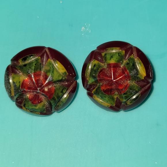 Vintage Bakelite Clipon Earrings